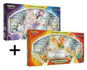 Pokemon-Kanto-Power-Collection-Box-Sets-Mewtwo-amp-Dragonite-IN-STOCK