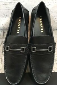 Coach Men's Mott Varsity Leather C Drive Bit Loafers Shoes ...