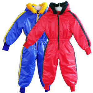 74379522e KIDS WATERPROOF WINTER RAINSUIT BOYS GIRLS ALL IN ONE SUIT PUDDLE ...
