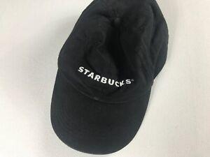 Starbucks-Employee-Hat-Black-White-Coffee-Cap-Uniform-Cotton-Adult-One-Size