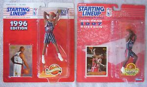 NBA Starting Lineup 1996 Charles Barkley & 1997 Clyde Drexler Rockets Lot of 2