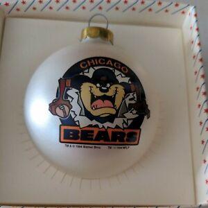 NFL Chicago Bears Vintage 1994 Tasmanian Devil Christmas Ornament Warner Bros
