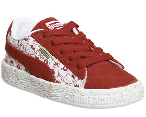 Classic Enfant Infant Suede Puma Hello Kitty Rouge H1wngxqUap