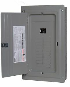 siemens 100 a load center panel amp fuse box 20 space main breakers rh ebay com 100 amp fuse box to 100 amp breaker box 100 amp service fuse box