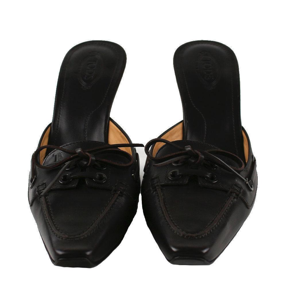 NIB Tod's damen Sabot Leather Heels braun  495