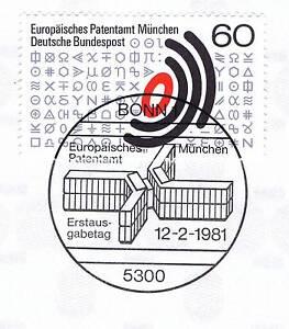 Rfa 1981: Office Des Brevets Munich Nº 1088 Avec Bonner Ersttags Cachet Spécial! 1a! 154-stempel! 1a! 154fr-fr Afficher Le Titre D'origine