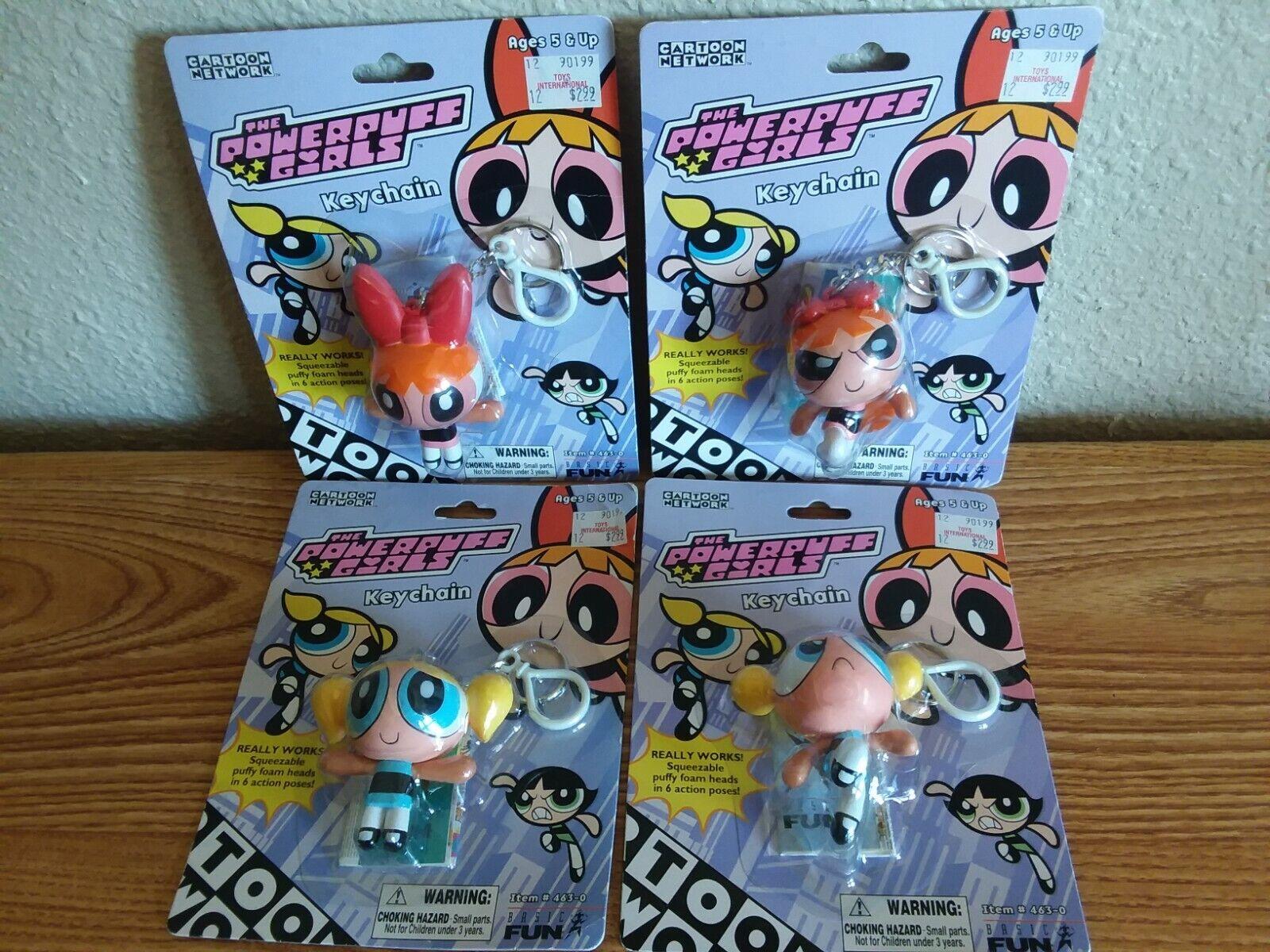 Cartoon Network 2000 Powerpuff Girls Bubbles Blossom Buttercup Keychain