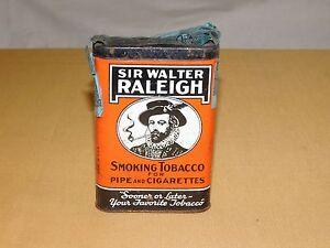 VINTAGE SIR WALTER RALEIGH PIPE & CIGARETTES SMOKING TOBACCO TIN *EMPTY*