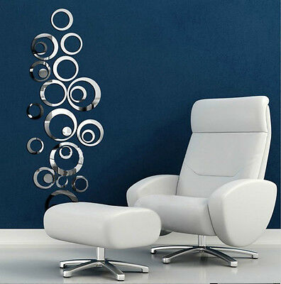 Hot Sold Removable Vinyl Art Wall Sticker Home Decor Modern Vogue Circles