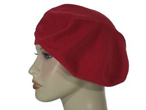 7a23e31e Laulhere 100% Cotton Soft Beret Hat Belza Red Made In France 6 5/8-6 ...
