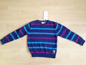 NEU-Tom-Tailor-Pullover-Gr-128-134-blau-gestreift