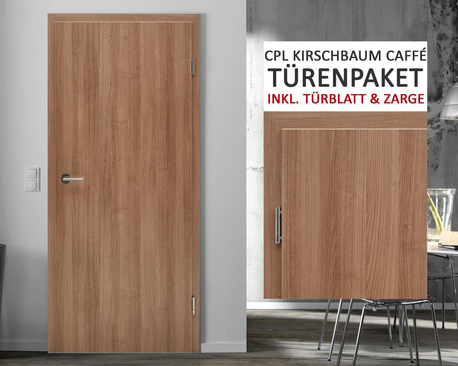 Kuporta CPL Zimmertüren Innentüren Kirschbaum caffé Zimmertür Tür mit Zarge NEU