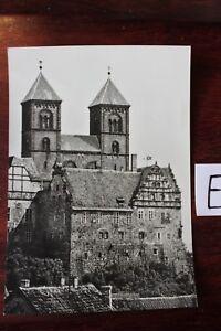 Carte Postale Vue Carte Saxe-anhalt Quedlinburg Pompier Et Stylet église-afficher Le Titre D'origine Construction Robuste