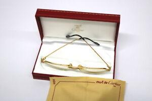 Orig-Vintage-CARTIER-Sandos-Brille-56-16-von-1986-mit-Etui