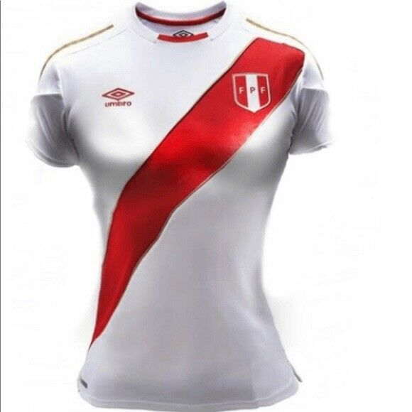 Original Authentic Umbro Peru Home donna's Jersey Short Sleeve Russia 2018 L