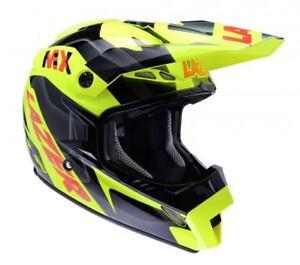 LAZER-MX8-PURE-GLASS-GEOPOP-YELLOW-BLACK-RED-LARGE-HELMET-MX-Motocross