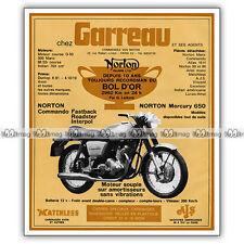 PUB NORTON 750 COMMANDO - Original Advert / Publicité Moto 1971