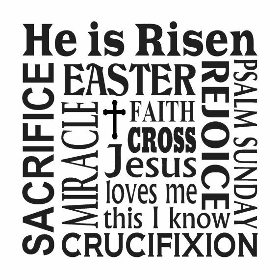 Easter Spring STENCIL12x12 He is Risen Faith Cross Psalm Sunday for signs crafts