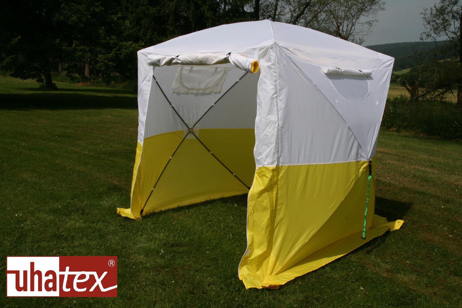 Freizeit-und Freizeit-und Freizeit-und Montagezelt leicht und in 30 Sekunden aufgeklappt, weiß  gelb 0a8dd7