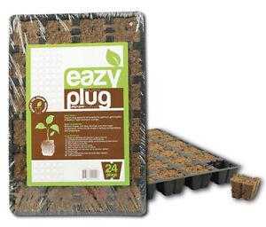 24er-Eazy-Plug-Tray-mit-Anzuchtwuerfeln-Stecklingsbloecke-Anzuchttray-Samen-Grow