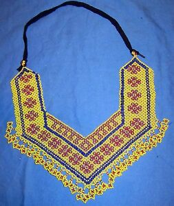 Necklace-Beaded-Afghan-Kuchi-Tribal-12-034-with-ties