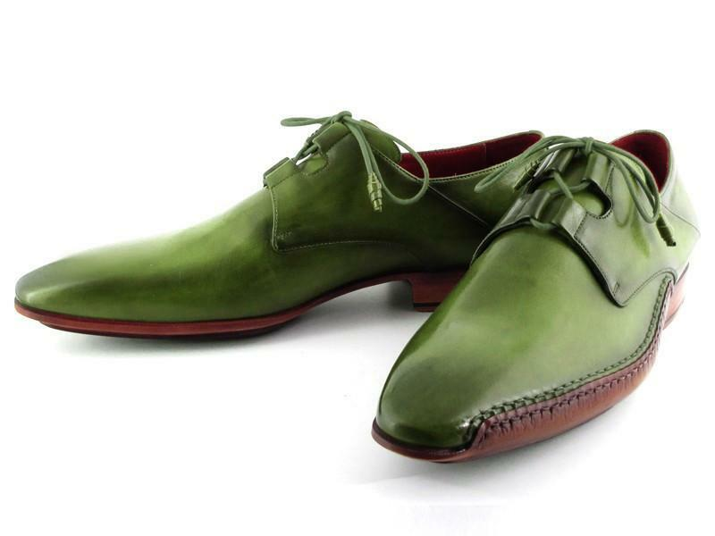 Paul Parkman Ghillie Lacing Handsewn Handsewn Lacing Shoes Green (ID#022-GREEN) 312f38