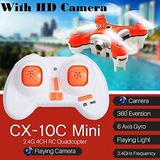Original +2017 Cheerson CX-10C Mini RC Cuadricóptero Drone Con Cámara 0.3MP HD UK