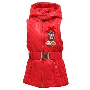 official photos 6ee63 e4fe9 Details about 3277T gilet smanicato bimba WINX CLUB rosso piumino giacca  jacket kid