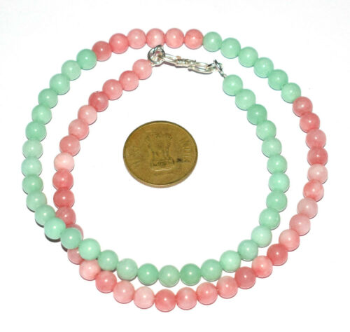 """Details about  /Natural Jade Gemstone 6.5 mm Beads 925 Sterling Silver 12-30/"""" Strand Necklaces"""