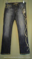 Coogi Denim Jeans Low Rise Embroidered Gold Chains Size 9 / 10 Waist 30