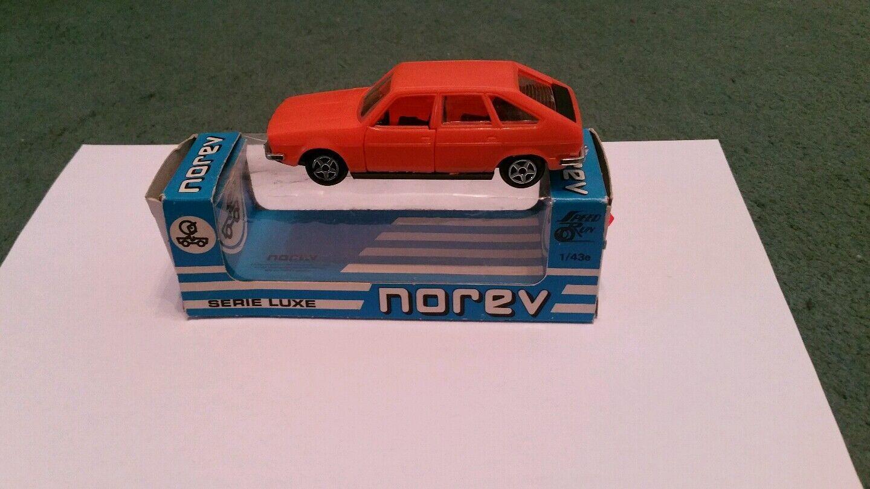 NOREV RENAULT 20 1 43 MINT 228 SERIE D PLASTIC orange + BOX - BOUGHT 1980