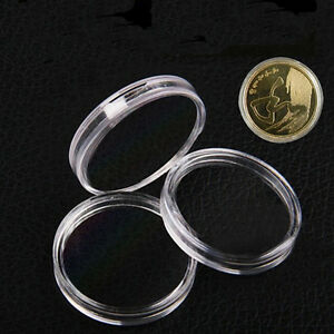 10pcs-25mm-Applied-Clear-Round-Cases-Coin-Storage-Capsules-Holder-Plastic-CA-UR