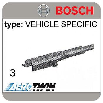 VAUXHALL Zafira 07.05-/> BOSCH AEROTWIN Vehicle Specific Wiper Blades A221S Mk2