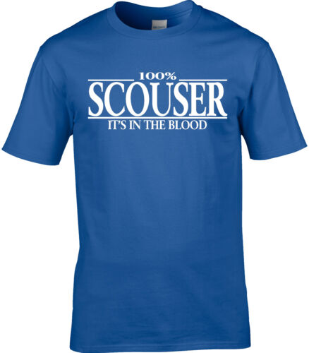 Scouser Mens T-Shirt 100/% Scouser Liverpool England Brit