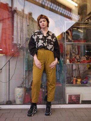 Pantaloni Termici Pieghe Pantaloni High Waist 80er True Vintage 80´s Inverno Trousers-mostra Il Titolo Originale Dolorante