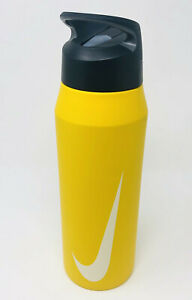 New-Nike-32-OZ-Stainless-Steel-Water-Hydration-Straw-Bottle-Gym-Workout-Sports