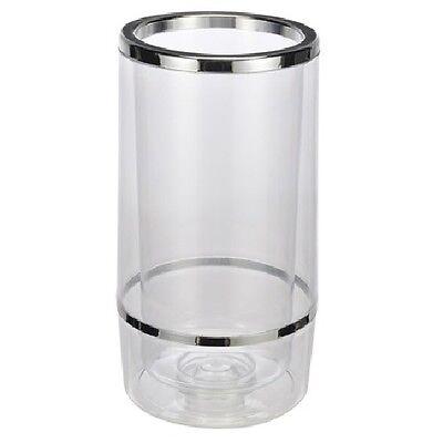 Barzubehör Doppelwandiger Getränkekühler Weinkühler Kunststoff Flaschenkühler Wein-kühler Ein Bereicherung Und Ein NäHrstoff FüR Die Leber Und Die Niere
