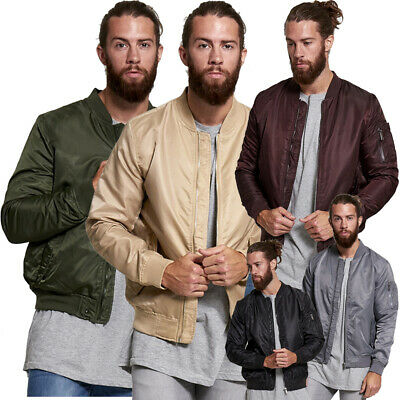Ausdauernd Fashion Mens Bomber Jacket Classic Vintage Miltary Zip Up Light Wight Biker Coat