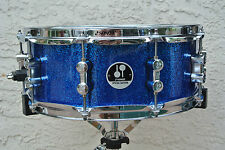 """ADD this SONOR 14"""" SPECIAL EDITION BLUE SPARKLE SNARE DRUM to YOUR DRUM SET V262"""