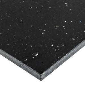 Black Sparkle Natural Quartz Floor Wall Tiles 600x300 Black