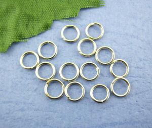 LOT-de-350-ANNEAUX-connecteurs-SANS-NICKEL-5mm-x-0-62mm-ARGENTE-fonce-perles