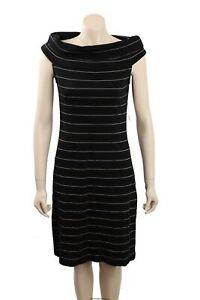 NEW Ralph Lauren - Size M - Black Striped Sweaterdress-RRP:$149.00