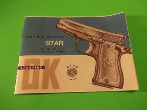 star 380 auto caliber model dk pistol manual small owners manual rh ebay com star safire 380 hd manual Interarms 380 Handgun