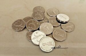 LOT-15-COIN-NEW-One-Sheqel-1-Shekel-SILVER-Israel-Israeli-COINS-Jewish-Money-Nis