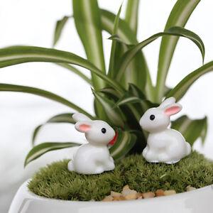 4x-Kaninchen-Miniatur-Ornament-Home-Decor-Fee-Garten-Figur-Bonsai-StatueDDE