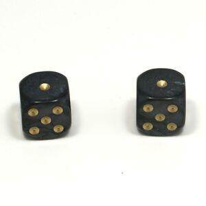 1-Pair-of-Black-Pearl-Dice-Dust-Caps-Snake-Eyes-BMX-Retro-Valve-Caps