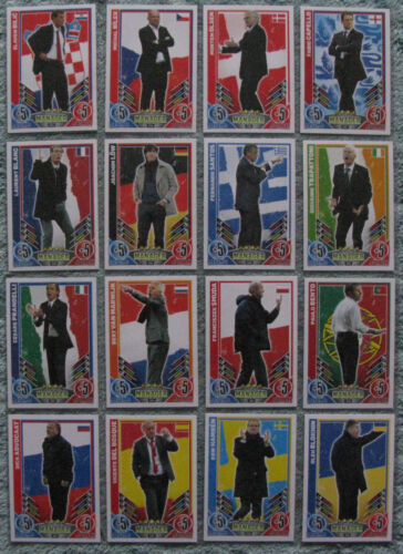 Match Attax TCG Choose One 2012 Manager Card from List Euro 2012
