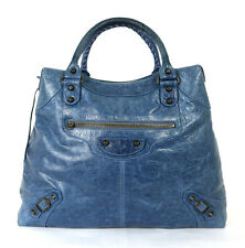 BALENCIAGA Cornflower Blue Lambskin Classic VELO Motorcycle City Bag