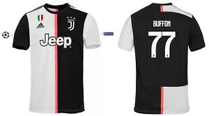 Details zu Trikot Adidas Juventus 2019 2020 Home UCL Buffon 77 [128 3XL] Champions League