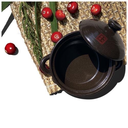 OnggiJonggi Korean Earthenware Clay Hot Pot 700ml